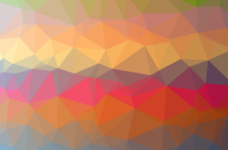 Illustration of abstract Orange, Red horizontal low poly background. Beautiful polygon design pattern. Useful for your needs.