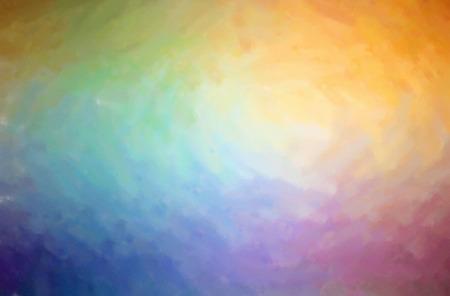 Abstract illustration of blue, orange Dry Brush Oil Paint background.