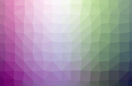 Illustration of abstract Green, Purple horizontal low poly background. Beautiful polygon design pattern. Useful for your needs.