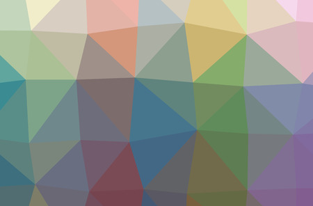 Illustration of abstract Blue, Red, Green And Yellow horizontal low poly background. Beautiful polygon design pattern. Useful for your needs. Stock Photo