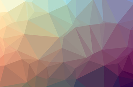 Illustration of abstract Orange, Purple horizontal low poly background. Beautiful polygon design pattern. Useful for your needs.