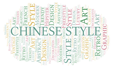 Chinese Style word cloud. Wordcloud made with text only.