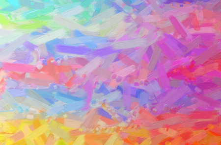 Abstract illustration of pink, yellow Oil Paint with big brush background. Stock Photo