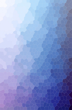 Abstract illustration of blue and purple Small Hexagon background. Stock Photo