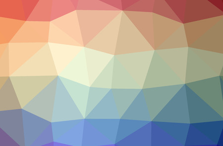 Illustration of abstract Blue And Orange horizontal low poly background. Beautiful polygon design pattern. Useful for your needs.