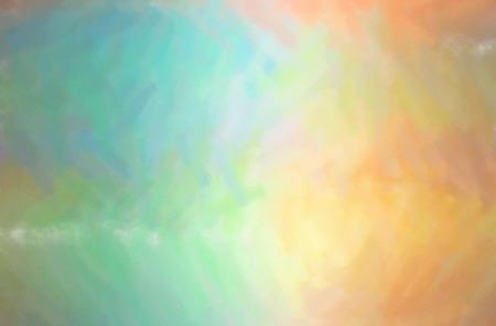 Abstract illustration of orange Dry Brush Oil Paint background.