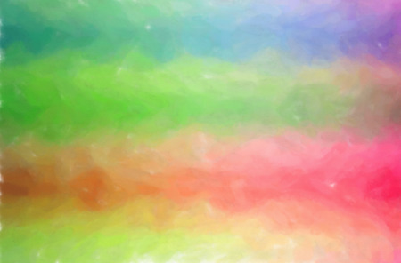 Abstract illustration of blue, green, pin, red Watercolor Wash background.