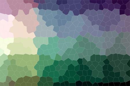 Abstract illustration of green, purple Little Hexagon background.