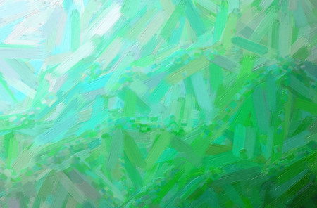 Abstract illustration of green Oil Paint with big brush background.