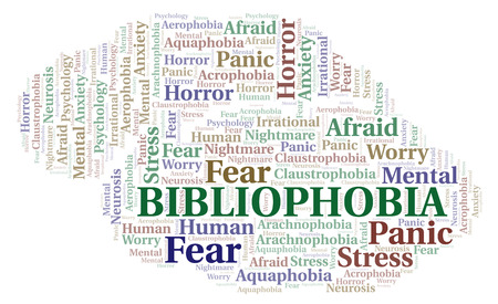 Bibliophobia word cloud. Wordcloud made with text only.