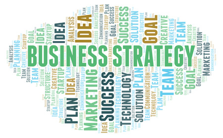 Business Strategy word cloud. Wordcloud made with text only.
