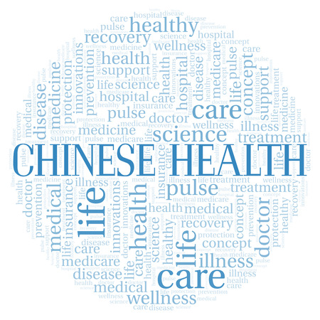 Chinese Health word cloud. Wordcloud made with text only.