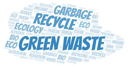 Green Waste word cloud. Wordcloud made with text only.