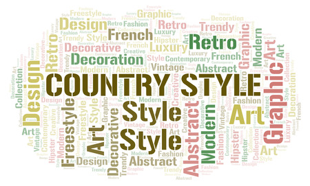 Country Style word cloud. Wordcloud made with text only.