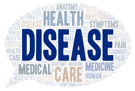Disease word cloud. Wordcloud made with text only.