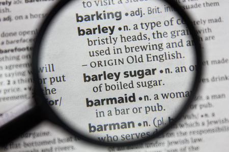 The word or phrase barley sugar in a dictionary.
