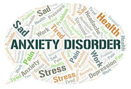 Nube de word de trastorno de ansiedad. Wordcloud hecho solo con texto.