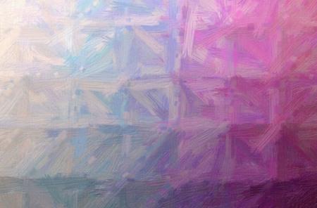 Abstract illustration of purple Bristle Brush Oil Paint background.