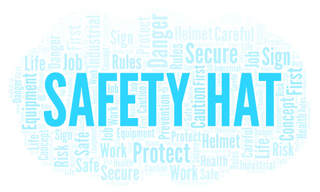Safety Hat word cloud. Word cloud made with text only. Imagens