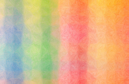 Abstract illustration of blue, green, orange, pink, red, yellow Impasto background.