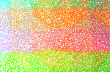 Illustration of abstract Orange, Green And Red Low Coverage Color Pencil Horizontal background
