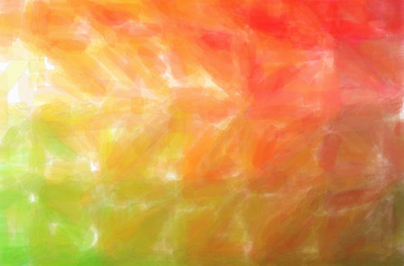 Abstract illustration of green, orange Watercolor background.