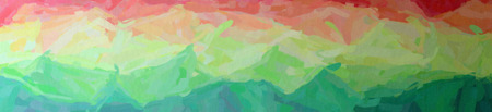 Abstract illustration of green, pink, red, yellow Impressionist Impasto background.