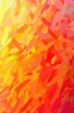 Abstract illustration of orange Oil Paint with big brush background.