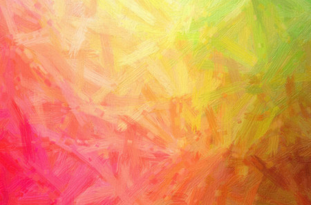 Abstract illustration of green, orange, pink, red Bristle Brush Oil Paint background.