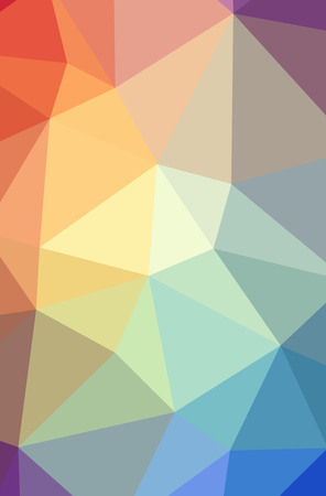 Illustration of abstract Blue, Orange, Yellow vertical low poly background. Beautiful polygon design pattern. Useful for your needs. Stock Photo