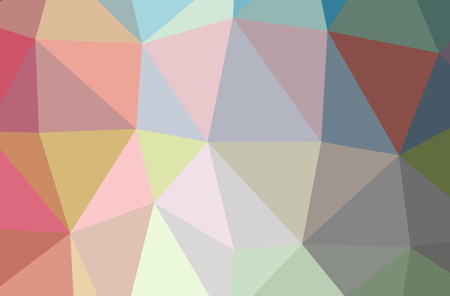 Illustration of abstract Blue, Green, Red, Yellow horizontal low poly background. Beautiful polygon design pattern. Useful for your needs.