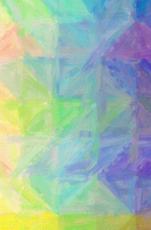 Illustration of abstract Blue, Red And Green Bristle Brush Oil Paint Vertical background