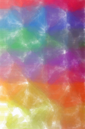 Abstract illustration of blue, green, orange, pink, red Watercolor with low coverage background.