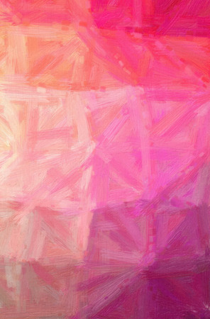 Abstract illustration of pink Bristle Brush Oil Paint background. Imagens