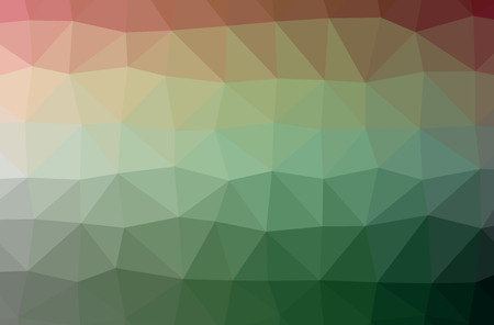 Illustration of abstract Green horizontal low poly background. Beautiful polygon design pattern. Useful for your needs. 스톡 콘텐츠