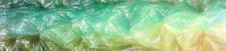 Illustration of green and blue wax crayon with low coverage background, abstract paint