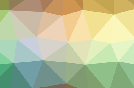 Illustration of abstract Green, Orange, Yellow horizontal low poly background. Beautiful polygon design pattern. Useful for your needs.