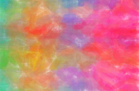 Abstract illustration of blue, green, pink Watercolor background.