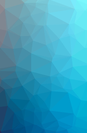 Illustration of abstract Blue vertical low poly background. Beautiful polygon design pattern. Useful for your needs. 스톡 콘텐츠