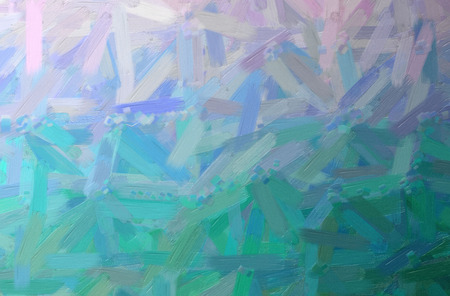 Abstract illustration of blue, green Oil Paint with big brush background. Imagens