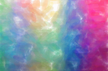 Abstract illustration of blue, red and yellow Watercolor background.