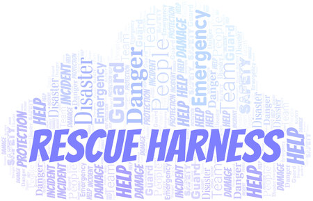 Rescue Harness Word Cloud. Wordcloud Made With Text.