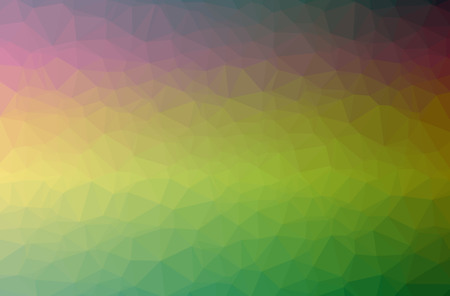 Illustration of abstract Green horizontal low poly background. Beautiful polygon design pattern. Useful for your needs. Stock Photo