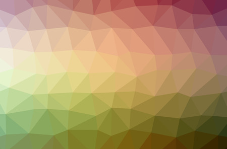 Illustration of abstract Green, Orange horizontal low poly background. Beautiful polygon design pattern. Useful for your needs.