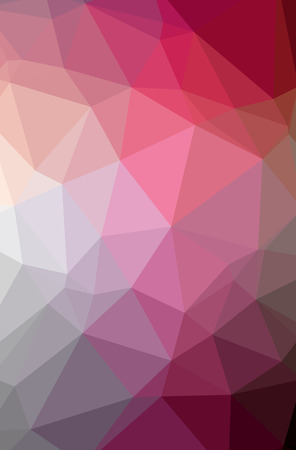 Illustration of abstract Red vertical low poly background. Beautiful polygon design pattern. Useful for your needs.