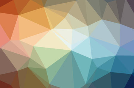 Illustration of abstract Blue, Orange horizontal low poly background. Beautiful polygon design pattern. Useful for your needs.