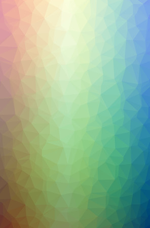 Illustration of abstract Blue, Green, Pink, Red, Yellow vertical low poly background. Beautiful polygon design pattern. Useful for your needs.