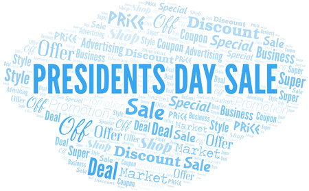 Presidents Day Sale Word Cloud. Wordcloud Made With Text.