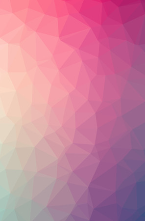 Illustration of abstract Pink vertical low poly background. Beautiful polygon design pattern. Useful for your needs. Banco de Imagens