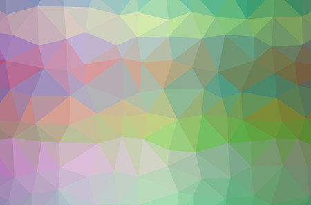 Illustration of abstract Green, Purple, Red horizontal low poly background. Beautiful polygon design pattern. Useful for your needs. 스톡 콘텐츠